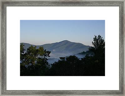 Cold Mountain North Carolina Framed Print by Stacy C Bottoms