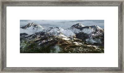 Cold Mountain Framed Print by Richard Rizzo