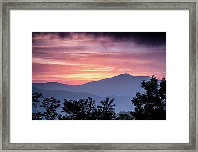 Cold Mountain Sunset Framed Print by Rob Travis