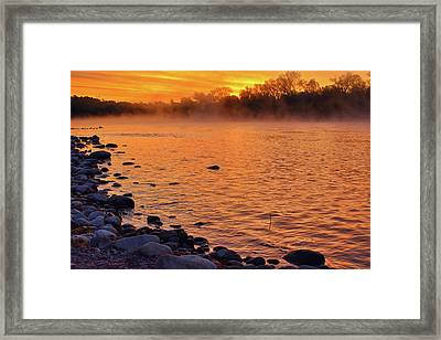 Cold November Morning Framed Print