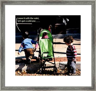 Cold One Framed Print by Leon Hollins III