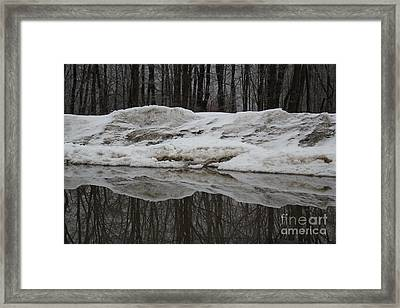 Framed Print featuring the photograph Cold Rain And Snow by Jesse Ciazza