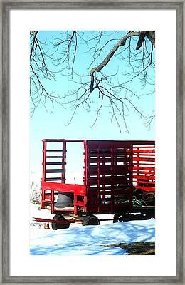 Cold Red Alone Framed Print by Cyryn Fyrcyd