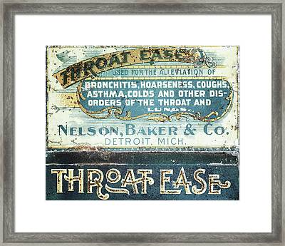 Cold Remedy Framed Print by Alison Sherrow I AgedPage