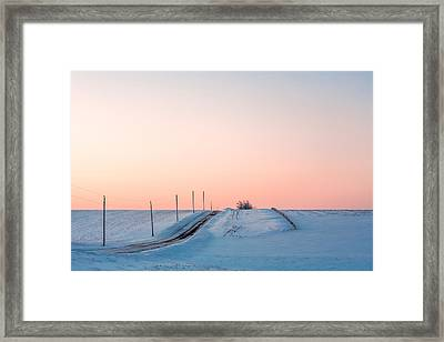 Cold Resolute Framed Print