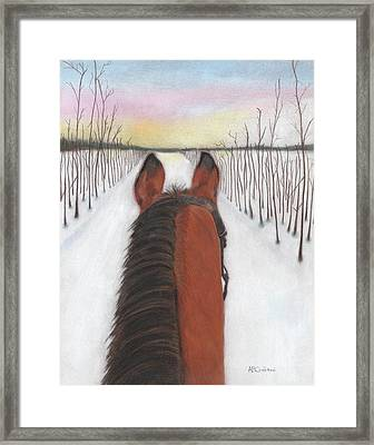 Cold Ride Framed Print