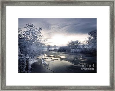 Cold River Flow Framed Print by Angel  Tarantella