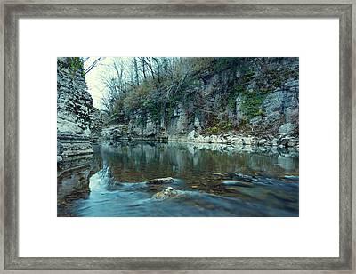 Cold River Framed Print