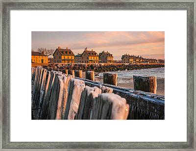Cold Row Framed Print by Kristopher Schoenleber
