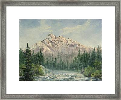 Framed Print featuring the painting Cold Rush by Rebecca Kimbel