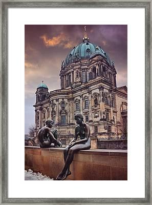 Cold Shoulder In Berlin Framed Print