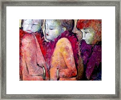 Cold Shoulders Framed Print