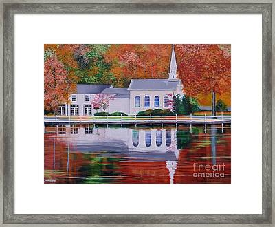 Cold Spring Harbor St Johns Church Framed Print
