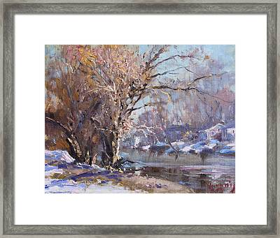 Cold Spring In Lasalle Framed Print by Ylli Haruni