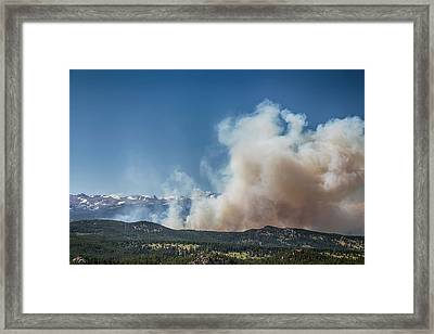 Cold Springs Fire Boulder County Colorado Framed Print by James BO Insogna
