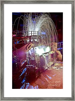 Cold Steel Melts Framed Print