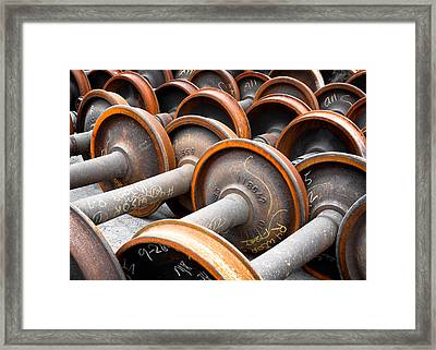 Cold Steel Framed Print by Todd Klassy