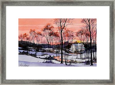Cold Sunset Framed Print by Art Scholz