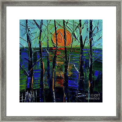 Cold Sunset Framed Print by Mona Edulesco