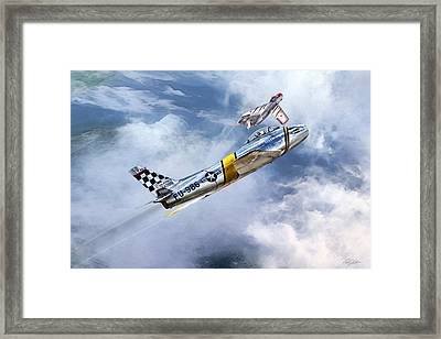 Cold War Clash Framed Print by Peter Chilelli