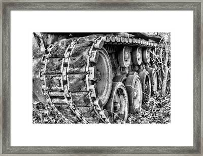 Cold War Rust Black And White Framed Print by JC Findley