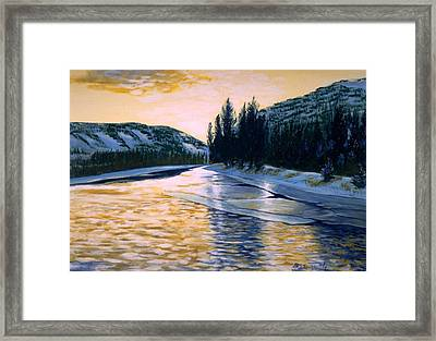 Cold Water Framed Print