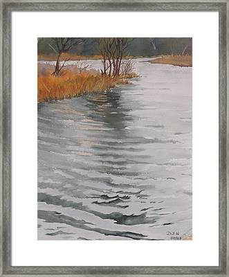Cold Water Framed Print by Debbie Homewood