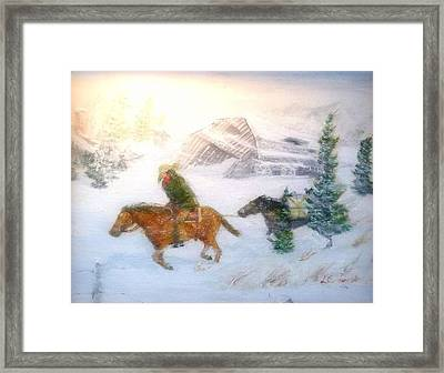 Cold Wind Oklahoma Artist Larry Lamb  Framed Print by Larry Lamb