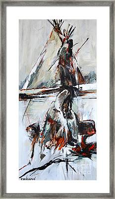 Framed Print featuring the painting Cold Winter Day by Cher Devereaux