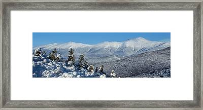Cold Winter Day On Haystack Nubble Framed Print