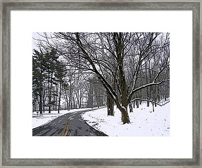 Framed Print featuring the photograph Cold Winter Day by Skyler Tipton