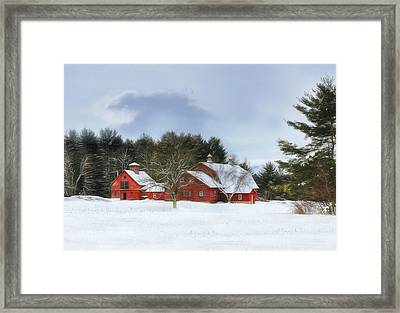 Framed Print featuring the digital art Cold Winter Days In Vermont by Sharon Batdorf