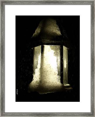 Cold Winter Night Framed Print by Ed Smith