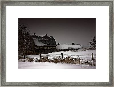 Cold Winter Night Framed Print by Edward Peterson