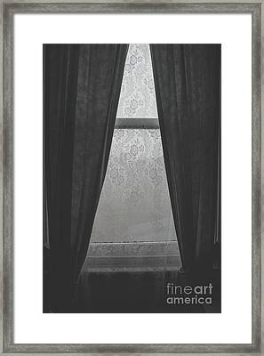 Cold Winter Window Framed Print