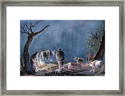 Cold Winters Framed Print