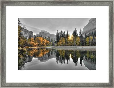 Cold Yosemite Reflections Framed Print