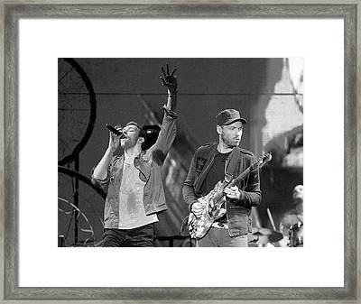 Coldplay 14 Framed Print by Rafa Rivas