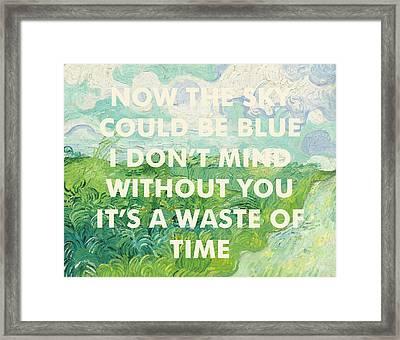Coldplay Lyrics Art Print Framed Print
