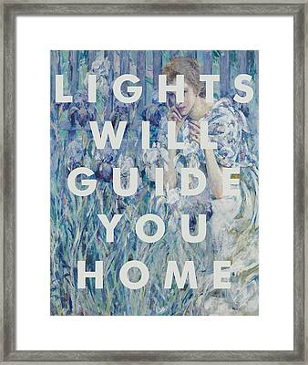 Coldplay Lyrics Print Framed Print