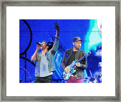 Coldplay6 Framed Print by Rafa Rivas