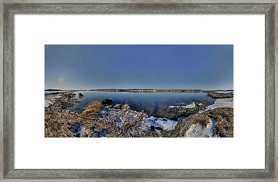 Cole River Swansea Mercator Framed Print by Christopher Blake