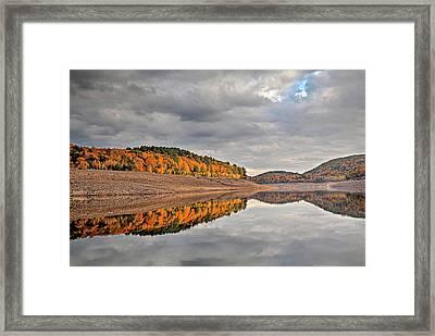 Colebrook Reservoir - In Drought Framed Print