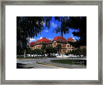 Colegio Benigno Malo - Cuenca Ecuador Framed Print by Al Bourassa