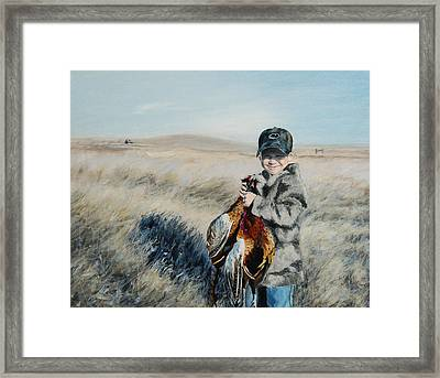 Cole's Pheasant Framed Print by Conny Riley