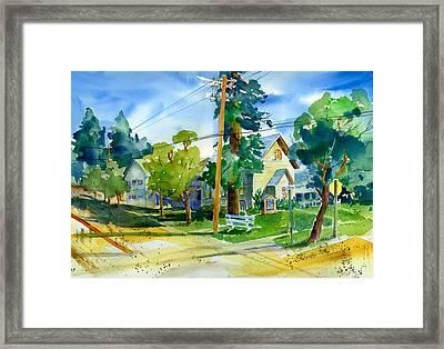 Colfax Methodist Church Framed Print