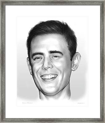 Colin Hanks Framed Print by Greg Joens