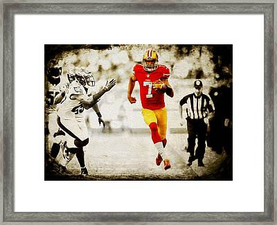 Colin Kaepernick 2a Framed Print by Brian Reaves