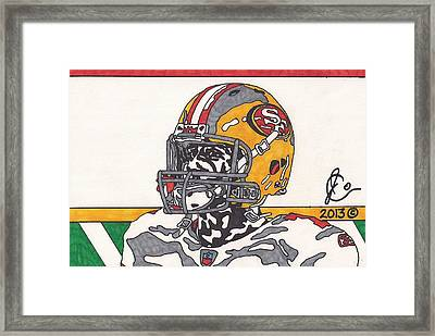 Colin Kaepernick 3 Framed Print by Jeremiah Colley