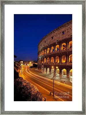 Coliseum At Twilight Framed Print by Brian Jannsen